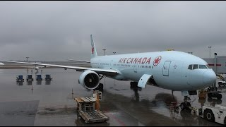 Air Canada Boeing 777 turbulent and spectacular takeoff from Montreal