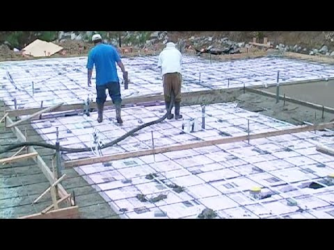 Pouring a large concrete slab