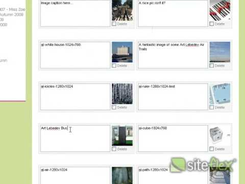 How to: Edit captions and delete images in your photo gallery using Siteflex