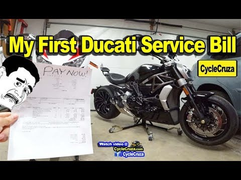 Got My First Ducati BILL - How Much it REALLY Costs To Own a Ducati Motorcycle!