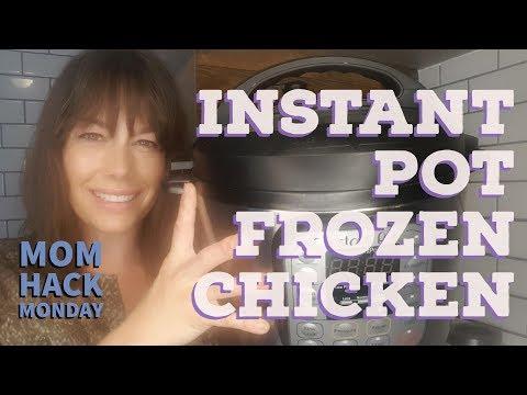 Instant Pot Frozen Chicken - Mom Hack Monday