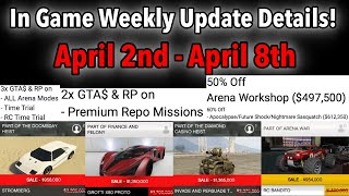 GTA 5 ONLINE WEEKLY UPDATE DETAILS! DOUBLE & TRIPLE MONEY! VEHICLE DISCOUNTS, & MORE!