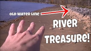 RIVER TREASURE! Metal Detecting Narcotics Anonymous Medallion, Coins, Live Digs & More!
