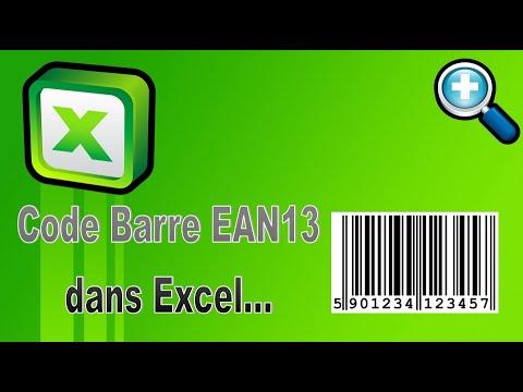 EXCEL - FAIRE DES CODES BARRES EAN13