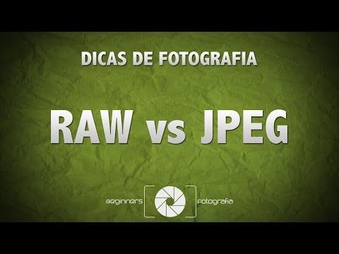 Dicas de Fotografia - Raw vs JPEG