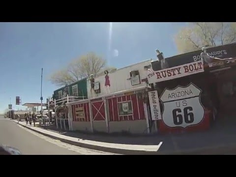 Seligman on Route 66 - FULL DRIVE-BY VIDEO TOUR (Route 66, Arizona)