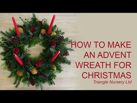 DIY How to Make an Advent Wreath