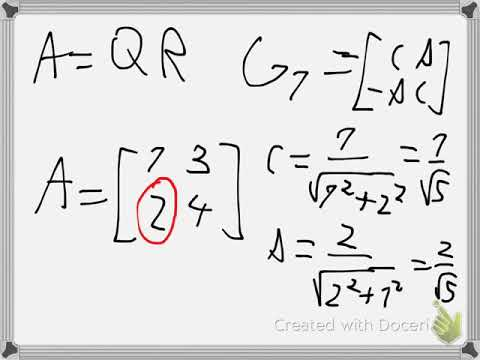 Numerical QR factorization with Givens rotation Example 3