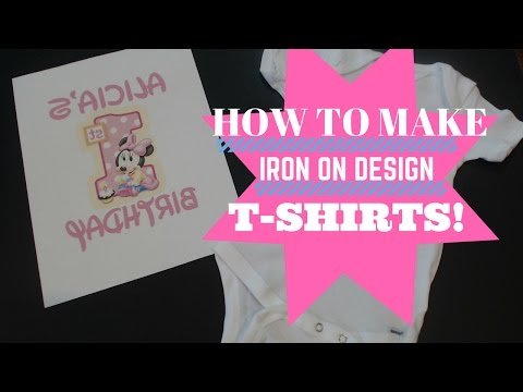 How To IRON ON DESIGNS! Make onesies & t-shirts. Quick & EASY Tutorial.