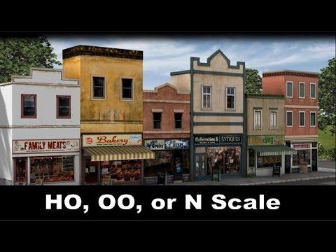 Model Trains   How to Make a Scale Model Street Scene for HO,OO, or N Trains