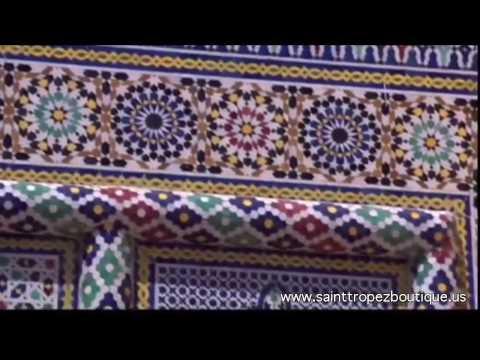 Zellige tile: Glazed Moroccan ceramic tiles - Zillij - moorish tile - Islamic tiles - Moroccan tile