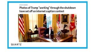 """Pendant le """"shutdown"""", Donald Trump travaille """"dur, dur, dur"""""""
