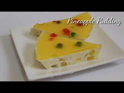 Pineapple pudding recipe | easy pudding recipe | pineapple pudding without oven | dessert with milk