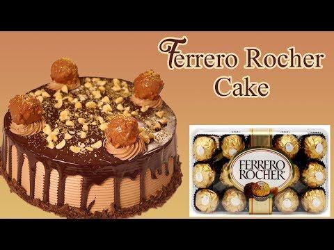 How To Make Ferrero Rocher Cake Recipe At Home Hazelnut Nutella Chocolate Cake Recipe In Hindi