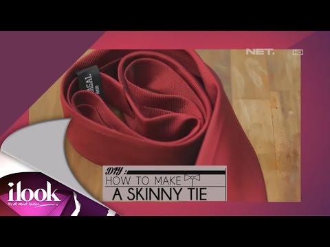 iLook - DIY How To Make A Skinny Tie