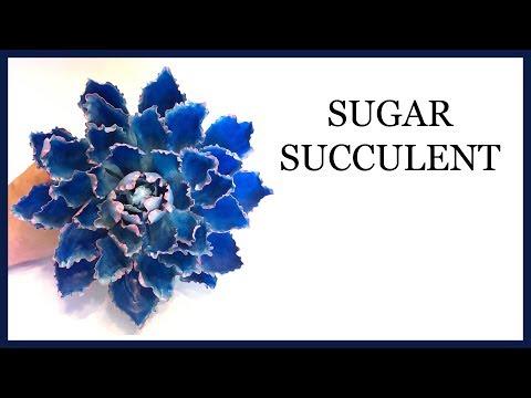 How to Make a Sugar Succulent: Blue Ruffle Edged: Gumpaste/Sugar Craft