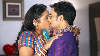 Dinesh Lal Yadav, Aamarapali Dubey & Kajal Raghwani   First Night Kiss....