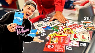 Using 100 Gift Cards In 24 Hours - Challenge