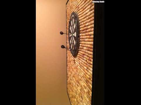 Wine Cork DIY Dart Board Wall
