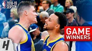 NBA GAME-WINNERS Compilation | 2018-19 NBA Season - Part 1