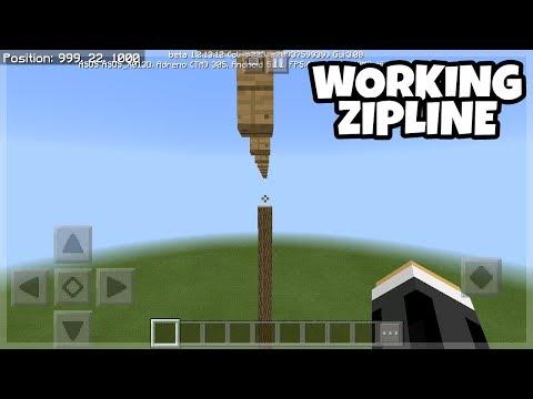 Minecraft PE: Working Zipline Tutorials