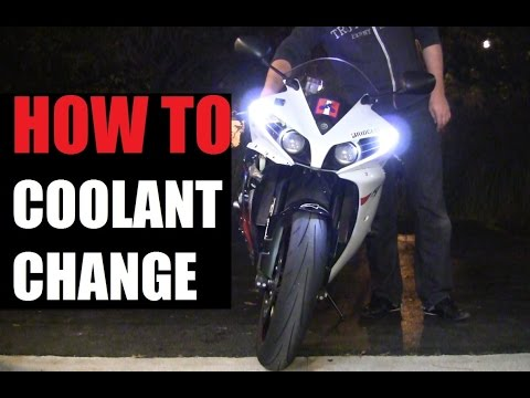 DIY: 09-14 Yamaha YZF-R1 Coolant Change Step By Step / How to Change Coolant on Motorcycle Yamaha R1