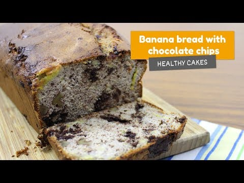 🍌 BANANA BREAD with CHOCOLATE chips • Healthy cakes #8