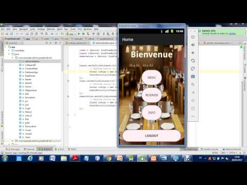 My first android app with android studio Reservation Restaurant (TuniReservation)