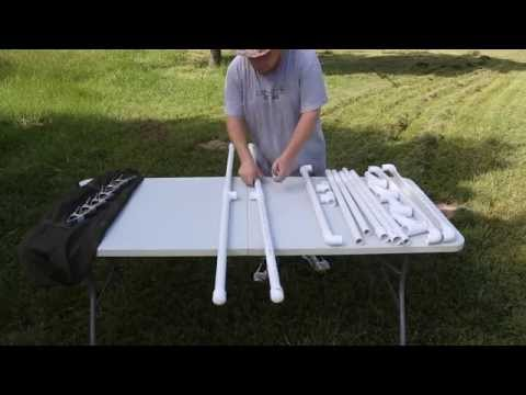 Portable and Adjustable PVC Target Holder pistol or rifle DIY build