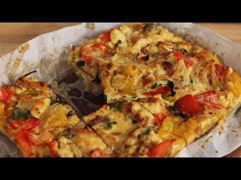 Red Pepper Frittata: The Lighter Option