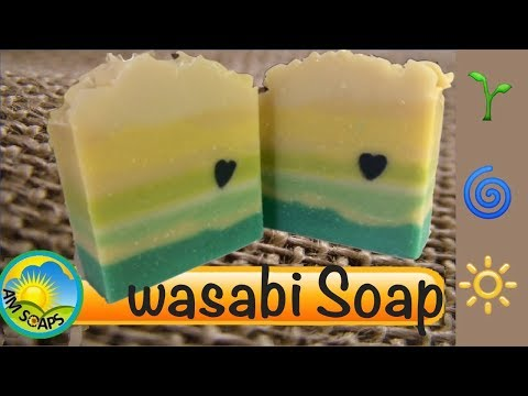 Making and Cutting Wasabi Cold Process Soap
