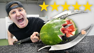 I Bought The BEST Rated WEAPONS On Amazon!! (5 STAR vs 1 STAR)