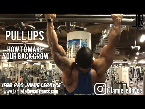 PULL UPS - How to make your back wide