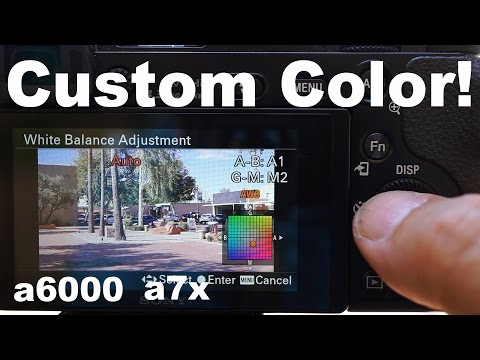 How to create your own custom white balance color filters on Sony Cameras