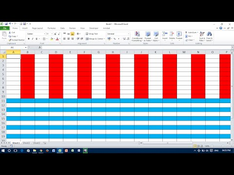 Conditional Formatting #Apply Color on Every Other Row or Column