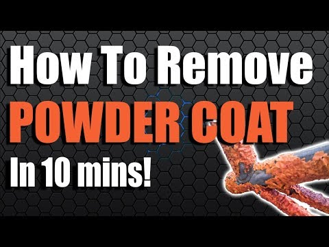 How To Remove Powder Coating and Paint in 15 mins for £11.00! Motorcycle Frames