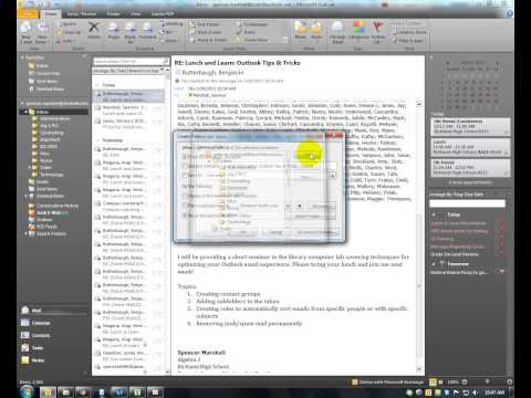 Create an Email Rule by Sender Name Outlook 2010