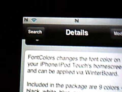 How to Change Font Color on Ipod Touch