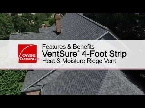 Roofing Product Guide: VentSure®  4-Foot Strip Heat & Moisture Ridge Vent