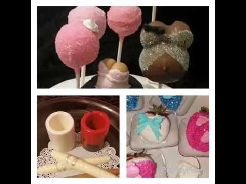 Pregnant Belly Cake Pops!!! Baby shower theme Chocolate Covered Strawberries