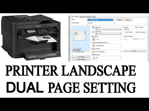 CANON MF244DW  ..... PRINTER 2 SIDE BACK PRINTING SETTING LANDNSCAPE //////////// ????????