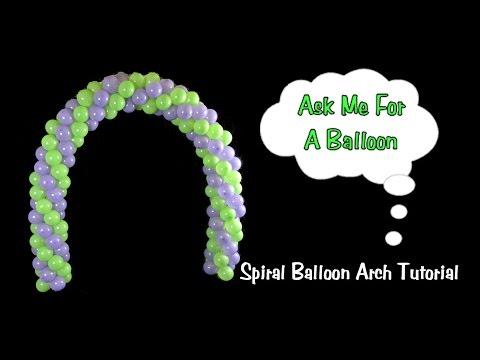 Spiral Table Balloon Arch - Balloon Decoration Tutorial