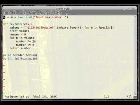 Convert hexadecimal to decimal in python pt 2