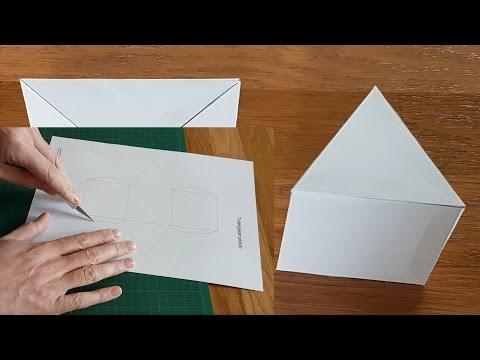 Paper Triangular Prisms Tutorial