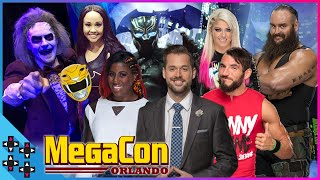 ALEXA BLISS & BRAUN STROWMAN NERD-OUT with EMBER MOON, JOHNNY GARGANO & MIKE ROME at MEGACON!
