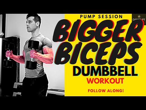 Biceps Workout With Dumbbells   Torture And Pump Routine For Bigger Arms