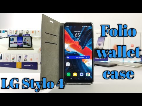 LG Stylo 4 Metro PCS/T-Mobile Folio protective wallet case.