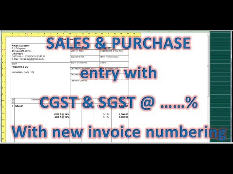 How to enter PURCHASE & SALES  entry with CGST & SGST in tally erp9  GST