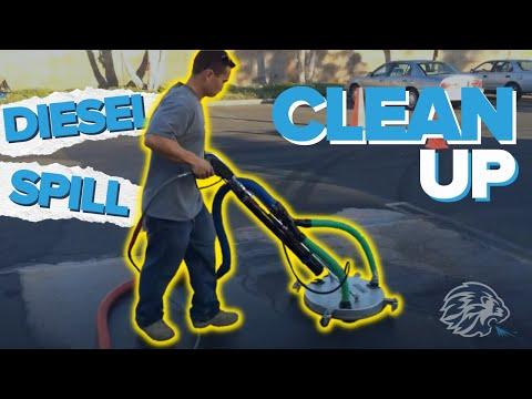 Diesel spill clean up in Orange County CA