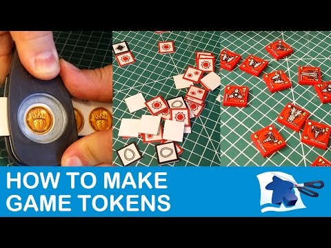 How to Make Tokens - Dining Table Print and Play